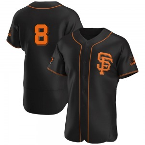 Men's San Francisco Giants Gary Carter Authentic Black Alternate Jersey