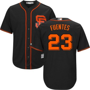 Youth Majestic San Francisco Giants Tito Fuentes Replica Black Cool Base Alternate Jersey