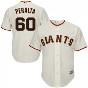 Youth Majestic San Francisco Giants Wandy Peralta Replica Cream Cool Base Home Jersey