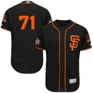 Youth Majestic San Francisco Giants Tyler Rogers Authentic Black Flex Base Alternate Collection Jersey