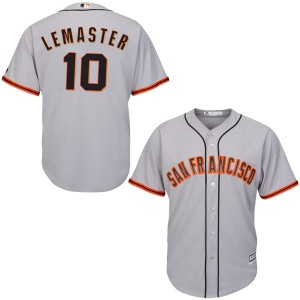 Youth Majestic San Francisco Giants Johnnie Lemaster Authentic Gray Cool Base Road Jersey