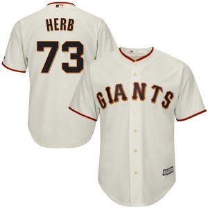 Men's Majestic San Francisco Giants Tyler Herb Authentic Cream Cool Base Home Jersey