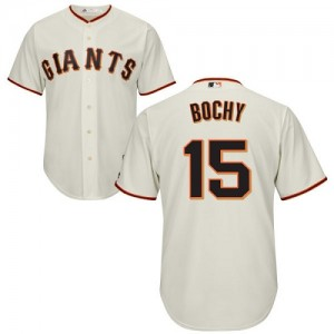Men's Majestic San Francisco Giants Bruce Bochy Authentic Cream Home Cool Base Jersey